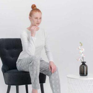 arnetta kadın krem pijama takım-332